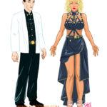 Diseños de personajes para animación incluída en la serie Veneno.Divine © Iván García.